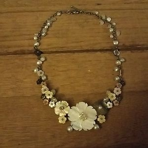 Whitney kelly sterling and carved pearl necklace